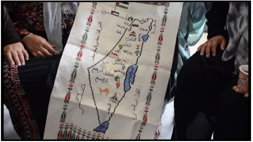 Women in Hebron - Israel map